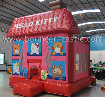 GB-283 Inflatable Hello Kitty Bounce House