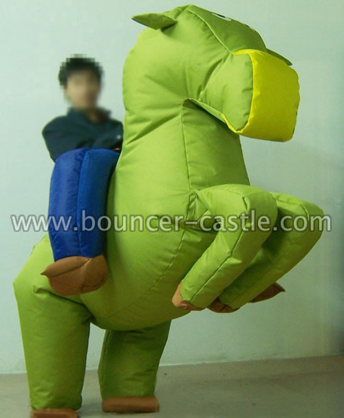 GM-13 Gallop Green Horse Inflatable Moving Cartoon