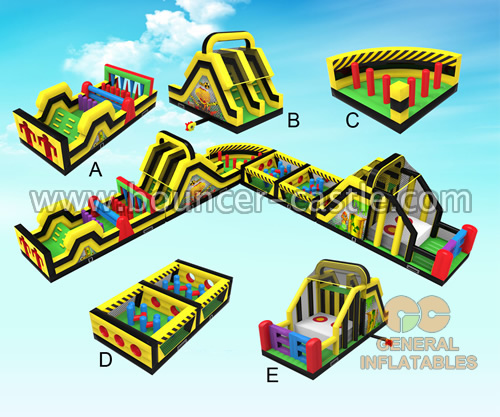 GO-153 L shape Obstacle course run