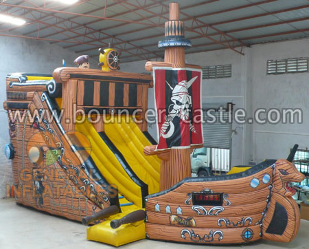GS-151 Inflatable Pirateship Slides