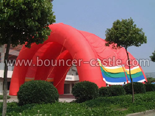GTE-6 Inflatable Red Tunnel Tent