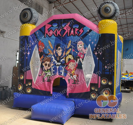 Inflatable rock star bounce house