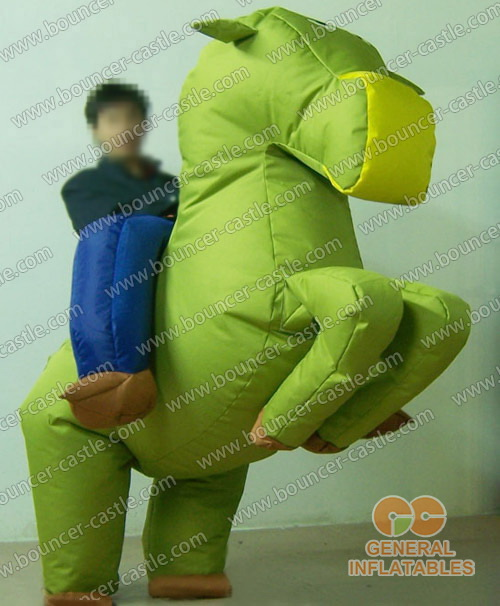 Gallop Green Horse Inflatable Moving Cartoon