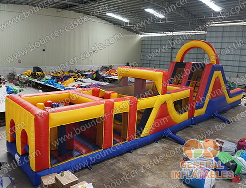 Red yellow blue obstacle course