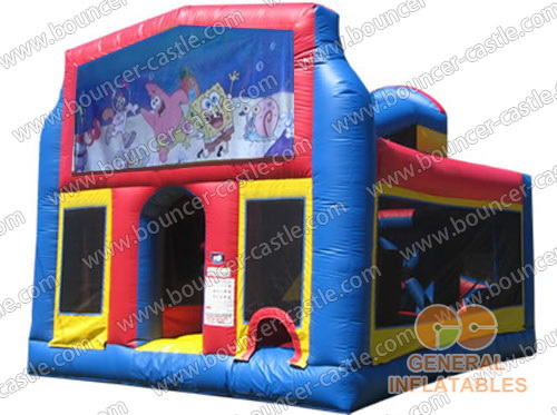 Inflatable Spongebob Obstacle Courses