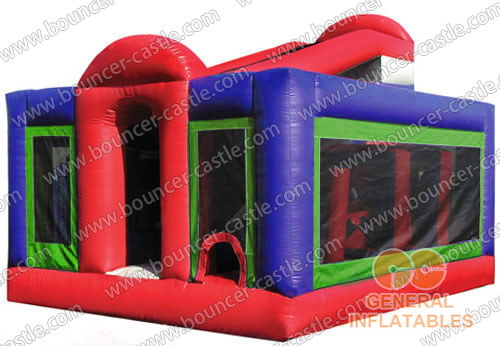 Backyard obstacle courses inflatables