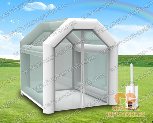 Disinfection tent with machine