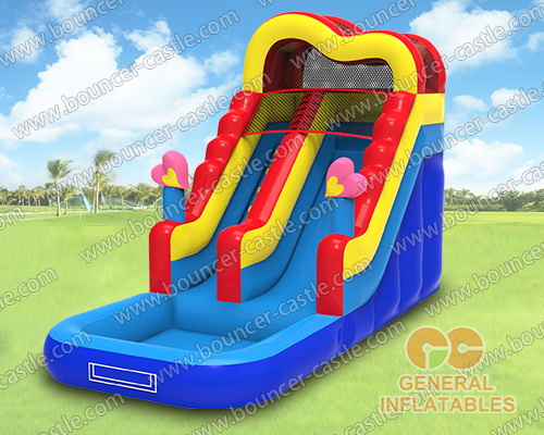 Inflatable heart water slide