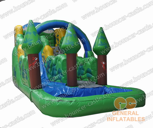 Inflatable forest water slides