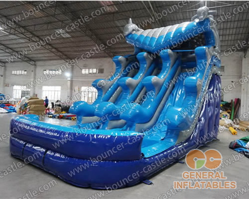 Dolphin wave water slide